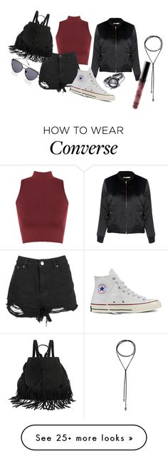 """""""Back to school 5"""" by fashionlandfb on Polyvore featuring LULUS, WearAll, Boohoo, Glamorous, Converse and Kylie Cosmetics"""
