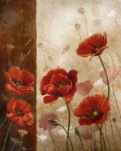 Wild Poppies I' by Conrad Kutsen Framed Art Print China Painting, Tole Painting, Painting & Drawing, Wild Poppies, Arte Floral, Painting Inspiration, Framed Art Prints, Flower Art, Art Projects