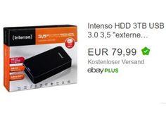"""Ebay: Externe Festplatte mit drei TByte für 79,99 Euro frei Haus https://www.discountfan.de/artikel/technik_und_haushalt/ebay-externe-festplatte-mit-drei-tbyte-fuer-79-99-euro-frei-haus.php Das """"Intenso Memory Center"""" ist mit einer Kapazität von drei TByte jetzt bei Ebay zum Schnäppchenpreis von 79,99 Euro mit Versand zu haben. Die externe Festplatte gibt es nur solange Vorrat reicht. Ebay: Externe Festplatte mit drei TByte für 79,99 Euro frei Haus (Bild: Eb"""