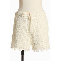 Walk In The Garden Crochet Shorts