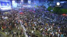 Hong Kong celebra la fiesta nacional china con manifestaciones en sus calles