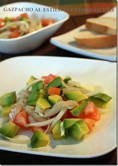 I'm making this Gazpacho with Avocado and Pollock right now!!!