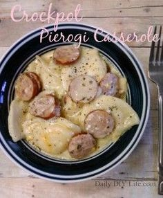 Crockpot Pierogi Casserole Recipe - DailyDIYLife.com