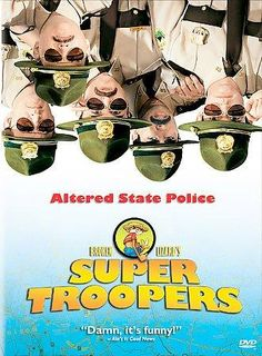 Broken Lizard, a comedy troupe formed by former students of Colgate University, wrote and star in the enjoyably lightweight comedy SUPER TROOPERS. They play state troopers who preside over a quiet str
