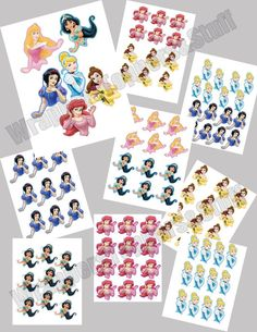PRINTABLE Disney Princess Cupcake Toppers by AvaScharlizeShop