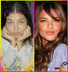 stars without makeup Adriana Lima Without Makeup, Models Without Makeup, Adriana Lima Makeup, Power Of Makeup, Beauty Makeup, Hair Makeup, Hair Beauty, Makeup Photoshop, No Photoshop