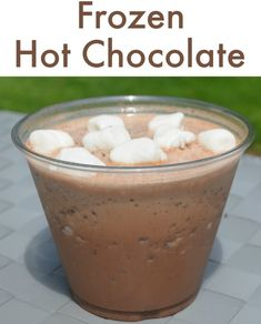 How to make frozen hot chocolate - YUM!