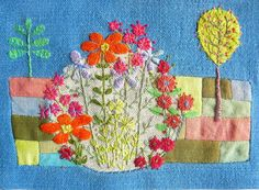 showcase of artists in wide variety of media |Art is A Way-- Liz Cookseys Embroideries.