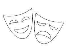 Drama Mask Pattern