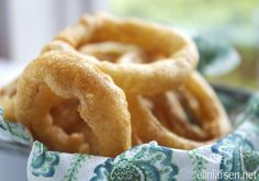 Delicious fried onion rings