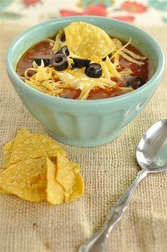 Crock Pot Tortilla Soup  @yourhomebasedmom.com