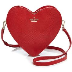 kate spade new york Secret Admirer Heart Crossbody (1 125 PLN) ❤ liked on Polyvore featuring bags, handbags, shoulder bags, purses, cherry, handbags shoulder bags, leather man bag, purse crossbody, leather crossbody purse and kate spade handbag