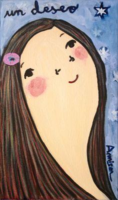 un deseo Eva Armisen, Disney Characters, Fictional Characters, Paintings, Disney Princess, Pintura, Art, Wish, Illustrations