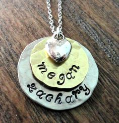 A personal favorite from my Etsy shop https://www.etsy.com/listing/164575727/hand-stamped-jewelry-mixed-metals-two