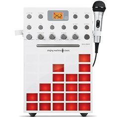 Singing Machine Karaoke Machine with Music Synchronizing Light Show (White) -- Continue to the product at the image link. (This is an affiliate link) Home Theater Speakers, Built In Speakers, Karaoke System, Kids Electronics, Show White, College Humor, Toy Store, All In One, Singing