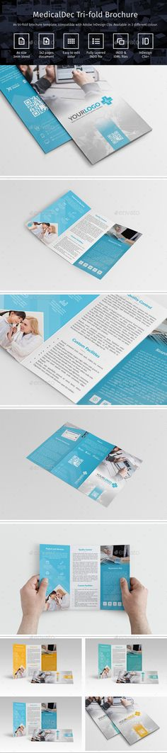 Medical Trifold Brochure Template InDesign INDD #design Download: http://graphicriver.net/item/medicaldec_trifold_brochure/14203284?ref=ksioks