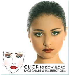 Stage make up-Couldn't find the facechart, but this picture is inspiring enough