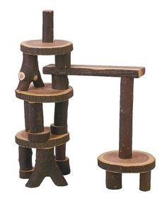 Barked Blocks 22-Piece Set by Tree Blocks