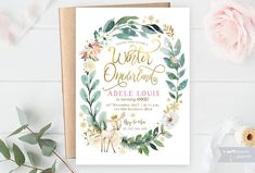 Birthday invitation  This listing includes 1 personalized printable invitation. You will not receive anything in the mail, this is for a DIGITAL file only. Send me your information, I customize, you print. Follow the simple instructions below to place an order.  -NOTE ABOUT GOLD-