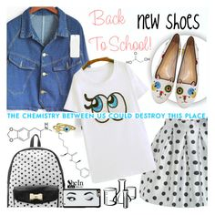 """Back to School: New Shoes"" by katjuncica ❤ liked on Polyvore featuring Betsey Johnson, Charlotte Olympia, Kate Spade, Bling Jewelry and BackToSchool"