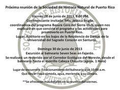 Reunión y Excursión de la Sociedad de Historia Natural de Puerto Rico #sondeaquipr #sevenseas #fajardo #sociedadhistorianatural #junio