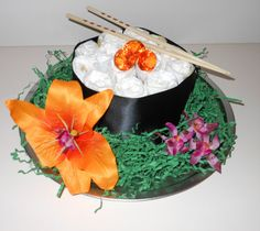 Mini Sushi Diaper Cake by MisoSweetBoutique on Etsy, $18.00