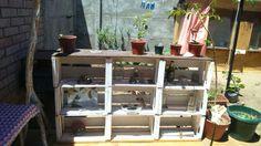 Mueble de cajones reciclados