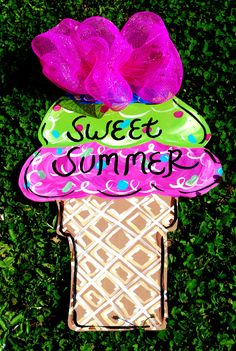 Summer Door Hanger Summer Decoration Summer Door by LooLeighsCharm, $45.00