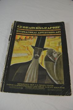 Gebrauchs Graphik International Advertising Art Vintage Magazine July 1928