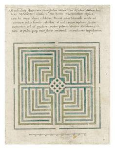 Modèle de labyrinthe de jardin-Art.fr - Musée national de la Renaissance (Ecouen) (RMN) - tableaux et affiches pour amoureux d'art