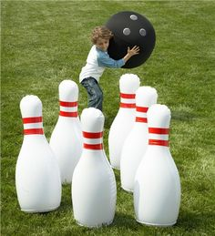 Life-Size bowling. Great backyard game, no matter how old you are!