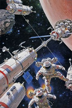 Mars expedition by Robert McCall