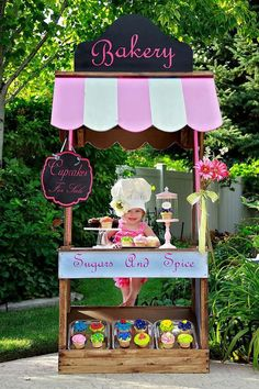 Childs bakery lemonade stand and party booth in by littleapplecore, $799.00:
