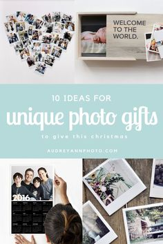 10 Unique Photo Gift Ideas - great ideas for how to use your photos for gifts this Christmas.