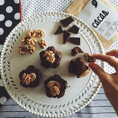 Yum! Cacao protein muffins with coconut milk and coconut oil via @burcuwalsh  #protein #glutenfree #cacao #coconut #cleaneating #vegan