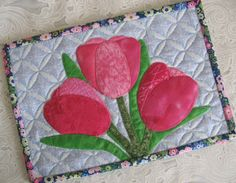 Spring Tulips Mug Rug - via @Craftsy