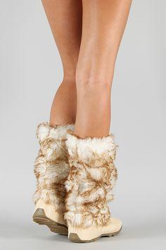 Pom Pom Fur Eskimo Mid-Calf Boot