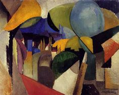 """Paisaje Cerca de Montreuil"" - Albert Gleizes (8 December 1881 – 23 June 1953), was a French artist, theoretician, philosopher, a founder of Cubism and an influence on the School of Paris."
