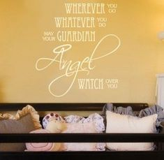 Items similar to Nursery Quote Decal Angel Prayer - Children Wall Decal on Etsy Good Life Quotes, Me Quotes, Baby Messages, Baby Girl Quotes, Nursery Quotes, Nursery Room, Nursery Ideas, Bedroom Ideas, Sweet Quotes