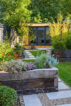 Small Garden Oasis, Big Garden, Garden Modern, Contemporary Garden, Urban Garden Design, Back Garden Design, Back Gardens, Outdoor Gardens, Garden Trampoline