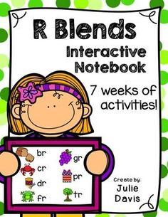 7 weeks of R Blends Fun!!!  This is a R Blends Interactive Notebook to help students practice and learn blends in the R family. There are 22 different activities for each R Blend to help your students master the blend. You may choose which activities are best for your students. The activities include: - Sort by Blend - Blend Word Search - ABC Order - Roll, Write, Graph - Spin, Write, Graph - Real & Not Real Pockets - Building Words - Highlight then Trace - Color the Pictures - Decorate the…