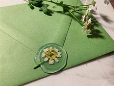 Mint Green Aesthetic, Pen Pal Letters, Wax Seals, Shades Of Green, My Favorite Color, Wall Collage, Aesthetic Pictures, Wedding Invitations, Birthday Invitations