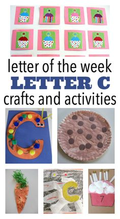 Alphabet Activities: FREE letter Cc activities for letter of the week. Letter C Preschool, Letter C Crafts, Letter C Activities, Pre K Activities, Alphabet Crafts, Preschool Lessons, Alphabet Books, Learning Activities, Preschool Ideas