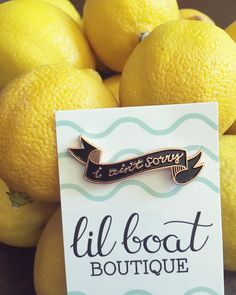 "LAST CHANCE! Enter for your chance to win my I Ain't Sorry (and a bunch of other rad feminist pins) in the loop giveaway on my feed! Contest is cut-off at 12pm PST and winner will be notified this evening!  ALSO! I reduced the prices of my ""seconds"" pins! Grab one for just $4/$6! #lilboatboutique #iaintsorry #lemonade #beyonce #enamelpin"