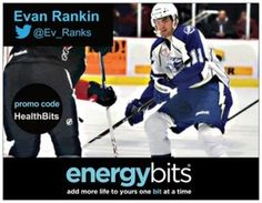 "EVAN RANKIN: Evan currently plays for the Kölner Haie of the Deutsche Eishockey Liga hockey league! He plays right wing and shoots right.""I take 20-30 BITS during my stretch before warm-ups and then take them immediately afterwards for recovery...It generally helps me to decrease the time it takes to recover so I can get back out there faster! So it's not like an energy boost but it is more of an energy sustainer!"""