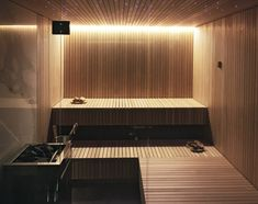 Diy Sauna, Bathroom Interior Design, Modern Interior, Modern Saunas, Sauna Accessories, Indoor Sauna, Brook House, Sauna Heater, Indoor Water Features