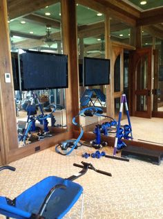 willowsford home exercise room on pinterest  home gyms