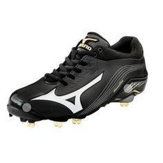 SALE - Mens Mizuno Global Elite Baseball Cleats Black Leather - Was $104.99 - SAVE $10.00. BUY Now - ONLY $94.99 Metal Baseball Cleats, Buy Now, Air Jordans, Black Leather, Sneakers Nike, Stuff To Buy, Shoes, Fashion, Nike Tennis