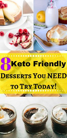These desserts are SO good, and better yet - they are keto friendly desserts!