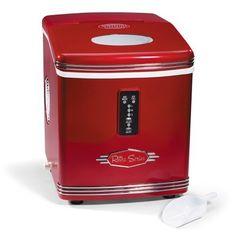 Nostalgia Electrics RIC-100 Retro Series Automatic Ice Maker, Red